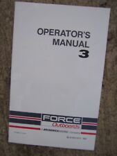 1990 Force Outboard Motor 3 HP Owner Operator Manual MORE BOAT ITEMS IN STORE  S