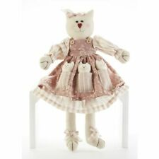 Delton 18 Inches Sitting Cat W-Kittens,Pink