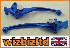 Leviers d'embrayage bleus pour motocyclette Yamaha
