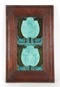 C F A Voysey Pilkingtons Lancastrian Pottery tiles arts crafts tile De Morgan