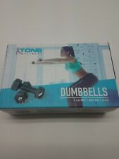 New Tone Fitness Dumbbells 4 LB Set (2x2 LB Weights) Black Weight Yoga 1,8 KG