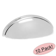 *10 Pack* Cosmas Cabinet Hardware Polished Chrome Cup Pulls #783CH