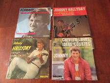 lot de  4 vinyles anciens  45tours JOHNNY HALLYDAY