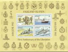 Falklands War 1st Ann. Liberation Miniature Stamp Sheet 1983 Mint FREEPOST in UK