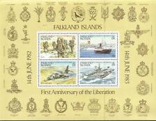 Falklands War 1st Ann. Liberation Miniature Stamp Sheet 1983 Mint FREEPOST in UK