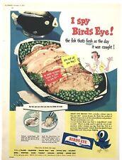 BIRDS EYE FISH - Vintage Magazine Advert (15 November 1952) Frozen Food *
