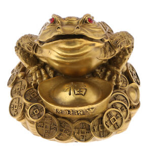 Feng Shui Money Lucky Fortune Wealth Chinese Frog Toad Ornaments L