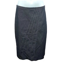Witchery Womens Skirt Size 10 Blue Denim A Line