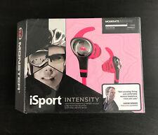 Genuine Monster iSport Intensity in Ear Headphones - Neon Pink
