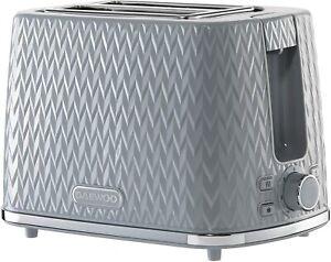 DAEWOO Argyle Collection SDA1821 2-Slice Toaster – Grey