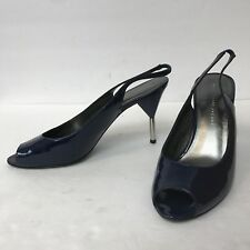 Marc Jacobs Shoes Heels Women Size 39.5 US 8.5 Blue Patent Leather Upper