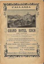 Stampa antica pubblicità GRAND HOTEL EDEN Pallanza 1895 Old antique print