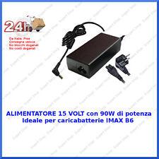 ALIMENTATORE 15VOLT 90W IDEALE PER IMAX B6 E ALTRI Modelli CARICABATTERIE LIPO