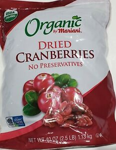 Organic by Mariani Dried Cranberries No preservatives  2.5 LB
