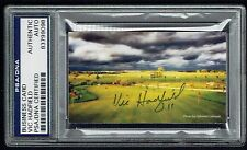 Vic Hadfield signed autograph auto Business Card Golf Centre PSA Slabbed