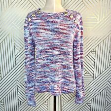 NWT Kensie Space Dye  Punk Yarn Sweater Pink and Purple Raspberry Wine Size M