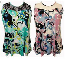 Polyester Paisley Tops & Shirts Plus Size for Women