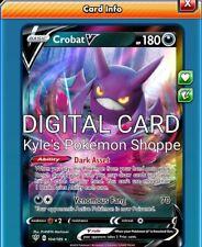 Crobat V Pokemon TCG Online PTCGO 104/189 DIGITAL CARD SENT FAST
