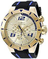Reloj Invicta Gold Oro Watch Man Hombre Steel Case Crystal Hand Pulsera Bracelet