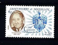 ST. PIERRE E MIQUELON - 1989 - Centenario della banca dell'isola