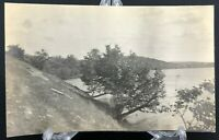 VTG RPPC Postcard C. 1900 Hillside River Bank Nature Scenery Early Souvenir Old