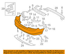 VOLVO OEM 06-09 C70 Rear Bumper-Cover 39870641