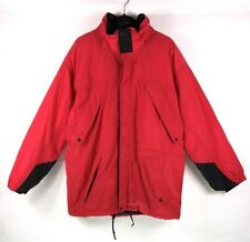 VTG Marlboro Country Store Men's Hooded Jacket Sz L Red Adventure Team Full Zip