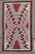 Antique Western Navajo Native American Indian Natural Colors Dazzler Rug NR