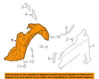 NISSAN OEM Sentra-Front Fender Liner Inner Splash Shield Guard Right 638403SH0A