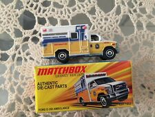 MATCHBOX LESNEY EDITION AUTHENTIC DIE-CAST CHASSIS FORD E- 350 AMBULANCE