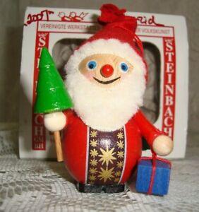 STEINBACH Handmade Wooden SANTA Ornament