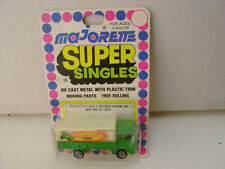 MAJORETTE SUPER SINGLES 1:100 SCALE GREEN CANVAS SAVIEM TRUCK NEW ON CARD