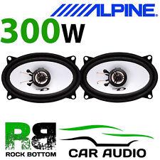 """ALPINE PORSCHE 944 4x6"""" 10x15cm 2 way 300 Watts Car Coaxial Front Door Speakers"""