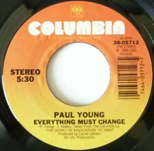 PAUL YOUNG:  EVERYTHING MUST CHANGE / GIVE ME MY FREEDOM:  NEAR MINT SINGLE 1985