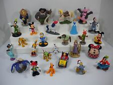 Lot of 26 Disney Figures Mickey Mouse Moana Zootopia Goofy Pluto Jasmine Olaf +