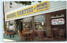 Navarre Furniture and Antique Reproductions Navarre Ohio OH Amish Postcard D14