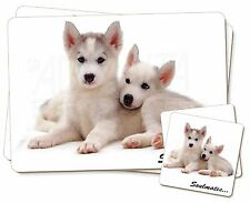 Husky Puppies 'Soulmates' Sentiment Twin 2x Placemats+2x Coasters Set, SOUL-35PC