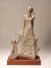 1978 Mid Century Austin Productions Art Sculpture Walnut Base Mother & Children