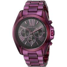 Michael Kors Original MK6398 Women's Bradshaw Plum Tone Stainless Steel Watch