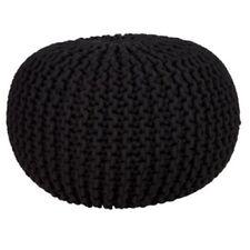 Otomanas y reposapiés color principal negro para el salón