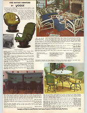 1972 PAPER AD Vogue Rattan Patio Outdoor Furniture Table Chair Swivel Rocker