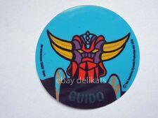 ADESIVO Sticker card vintage UFO ROBOT GOLDRAKE 1978 nome GUIDO