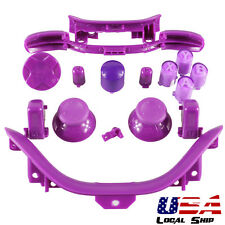 Matt Purple ABXY Power Button Set Mod Replacements for Xbox 360 Controller Shell