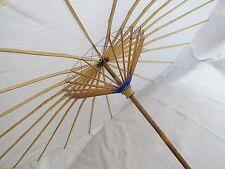 Japonaise chinoise XXL 102 cm blanc Parasol papier parapluie de Bricolage fête de mariage