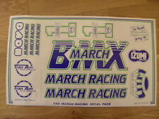 NOS BMX MRD MARCH RACING STICKER SET OLD SCHOOL NEW