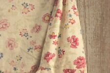 Vintage French CHAIR SLIP COVER slipcover wingback / slipper chair fabric old ~~