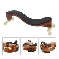 Coffee Wooden Violin Shoulder Rest Fully Adjustable Support for Violin 3/4 4/4