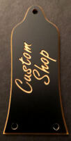 Engraved Etched GUITAR TRUSS ROD COVER - Fits EPIPHONE - CUSTOM SHOP Black Gold