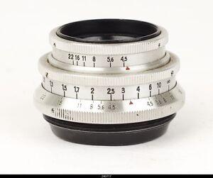 Lens Zeiss Tessar 4,5/4cm Red T Screw Mount  42