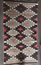 Antique Navajo Saddle Blanket - Transitional Period circa 1915